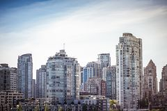 Canada`s Vancouver British Columbia cityscape royalty free stock photos