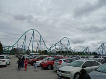 Canada& x27;s Wonderland roller-coaster stock image