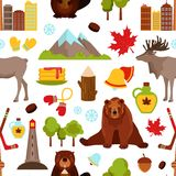 Canada seamless pattern Royalty Free Stock Photo