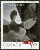 CANADA - 2012: shows Titanic, White Star Line, Titanic Centenary 1912-2012. CANADA - CIRCA 2012: A stamp printed in Canada shows Titanic, White Star Line stock photo