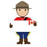 Canada Sign Boy Royalty Free Stock Images