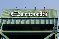 Canada sign on a lift bridge Stock Photography