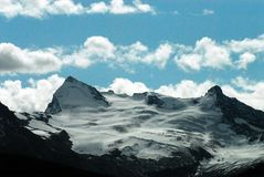 Canada- Snow Capped Mountain Peaks Near Jasper royalty free stock photography