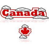 Canada with snow vector illustration