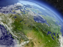 Canada from space Royalty Free Stock Photo