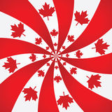 Canada spiral background stock illustration