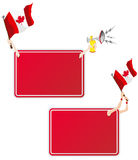 Canada Sport Message Frame with Flag. Vector - Canadian Sport Message Frame with Flag. Set of Two royalty free illustration