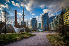 Canada Square and modern buildings at the Harbourfront in Toront. O, Ontario Stock Images