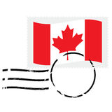 Canada stamp. Illustration showing a postmarked stamp of Canada Royalty Free Stock Images