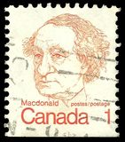 John A. Macdonald. Canada - stamp printed in1974, Canadian Prime Ministers and Queen Elizabeth II, Sir John A. Macdonald Royalty Free Stock Image