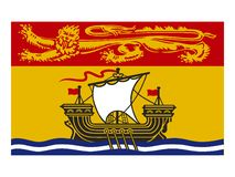 Canada state flag of New Brunswick vector illustration