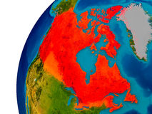 Canada sur le globe Photo libre de droits