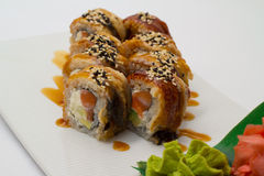 Canada sushi roll Royalty Free Stock Photo