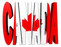 Canada text with flag Stock Photos