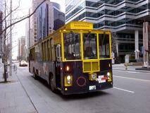 canada Toronto and the city tour bus Stock Image