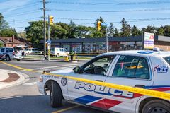 Free Canada, Toronto Police At The Scene Of A Hit And Run Collision Royalty Free Stock Photos - 161394788
