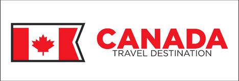 Canada travel destination banner Royalty Free Stock Images