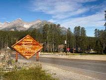 Canada Travel Route, Banff NP, Lake Louise Royalty Free Stock Image
