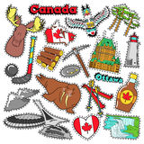 Canada Travel Scrapbook Stickers, Patches, Badges Stock Photography