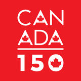 Canada 150. A unique typographic design celebrating Canada`s 150th anniversary in vector format Royalty Free Stock Photos