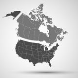 Canada, USA Background Abstract Illustration Stock Photography