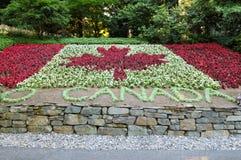 Canada van de flora vlag Royalty-vrije Stock Afbeeldingen