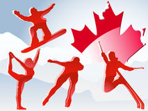 Canada Vancouver Winter Games. 2010 Vector Illustration