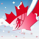 Canada Vancouver Winter Games 2010.  Vector Illustration