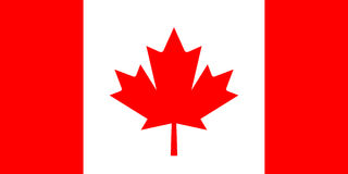 Canada Vector Flag Stock Photos