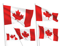 Canada vector flags Royalty Free Stock Image