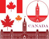 Canada. Vector illustration (EPS 10 Stock Photo