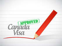 Canada visa approved sign illustration design Stock Image