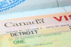 Canada visa Stock Images