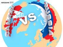 canada vs Russia Zdjęcia Royalty Free