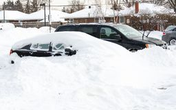 Canada Weather: Next day of Toronto Winter Blast Royalty Free Stock Images