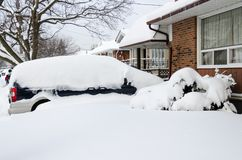 Canada Weather: Next day of Toronto Winter Blast Royalty Free Stock Photography