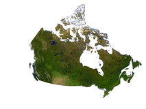 Canada On White Background Royalty Free Stock Photos