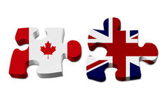 Canada working with England Royalty Free Stock Photos