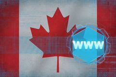 Canada www (world wide web). Electronic concept. Stock Photography