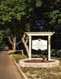 Canadaigua, segno di New York Fotografia Stock