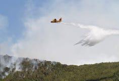 Canadair που ρίχνει το νερό 033 Στοκ Εικόνες
