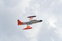 Canadair снимая StarCT-133 на дисплее Стоковое фото RF