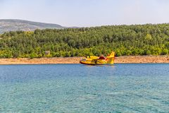 Canadair Amphibious water bomber Royalty Free Stock Image