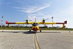 Canadair bombardier Fotografering för Bildbyråer