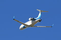 The Canadair Bombardier CRJ-200 plane in the sky of Yamal Royalty Free Stock Image