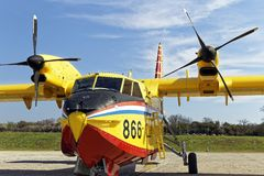 Canadair bombardier Royalty Free Stock Images