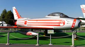 Canadair CL-13 Sabre. In Istanbul Aviation Museum on September 22, 2012 in Istanbul, Turkey. CL-13 introduced 1950, produced 1,815 piece until 1958 Royalty Free Stock Photo