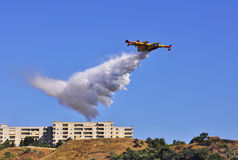 Canadair last launch. The last launch that the fire off completely Stock Images