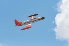 Canadair que tira StarCT-133 en la exhibición Fotografía de archivo