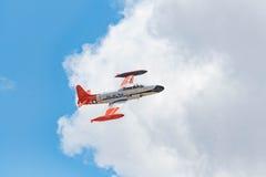 Canadair que tira StarCT-133 en la exhibición Fotos de archivo
